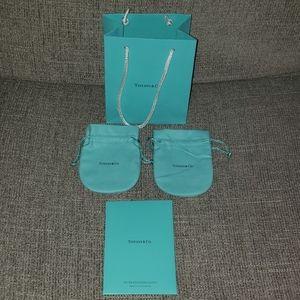 Tiffany & Co shopper, pouches, polishing cloth